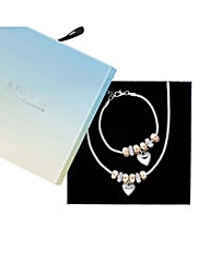 Mood Heart rondel stacker jewellery set