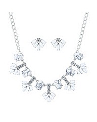 Mood White stone crystal jewellery set