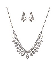 Mood Diamante crystal jewellery set