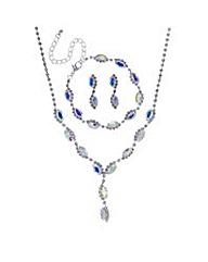 Mood Aurora borealis jewellery set