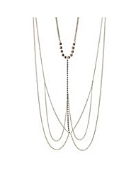 Mood Gold chain diamante body necklace