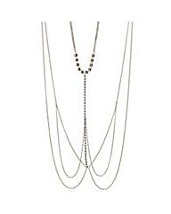 Mood Gold chain diamante body necklace