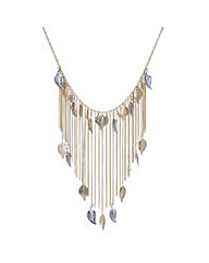 Mood Leaf Tassel Collar Necklace