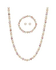 Mood Peach pearl jewellery set