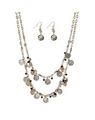 Mood Shell drop charm jewellery set