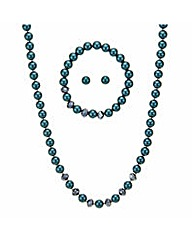 Mood Green pearl necklace jewellery set
