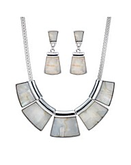 Mood Shell inlay jewellery set