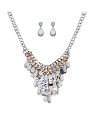 Mood Shell drop jewellery set