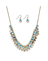 Mood Gold layered sequin jewellery set