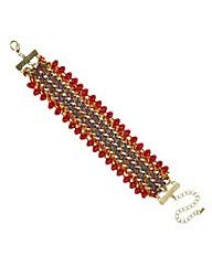 Mood Plaited bead edge bracelet