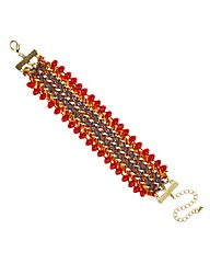 Mood Plaited bead edge bracelet