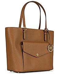 Michael Kors Jtst Lg Pkt Tan Bag