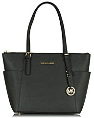 Michael Kors JST PKT Black Shoulder Bag