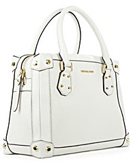 Michael Kors Tryn Md White Satchel