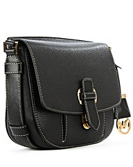 Michael Kors Rmy Mdm Black Leather Bag