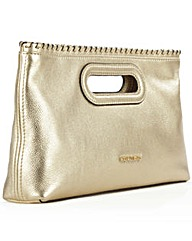 Michael Kors Rsli Lrg Gold Clutch