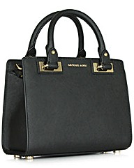 Michael Kors Qin Small Black Satchel