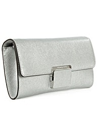 Michael Kors Silver Cynth Clutch Bag