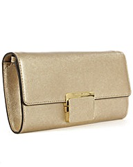 Michael Kors Gold Cynth Clutch Bag