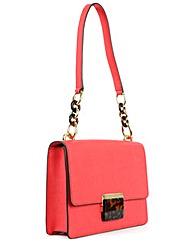 Michael Kors Pink Cnth Shoulder Bag