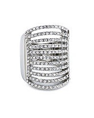 Mood diamante multi row adjustable ring