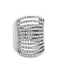 Mood diamante multi row adjustable ring