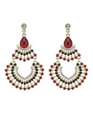 Mood Red chandelier earring