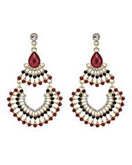 Mood Red chandelier earring