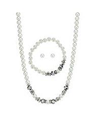 Mood Pearl and bead jewellery set