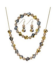 Mood Hexagon necklace jewellery set