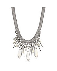 Mood Crystal shard collar necklace