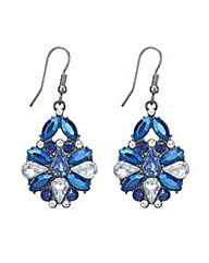 Mood Metallic blue stone drop earring