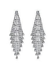 Mood crystal shower chandelier earring