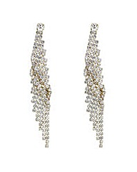 Mood crystal twist diamante drop earring
