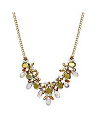 Mood Green crystal cluster bead necklace