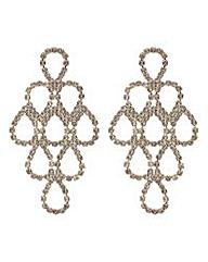 Mood crystal loop chandelier earring