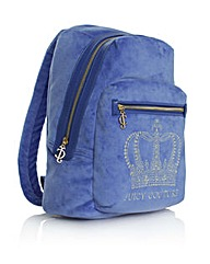 Juicy  Crystal Crown Backpack Blue