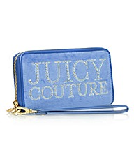 Juicy Crystal Crown Wristlet Blue