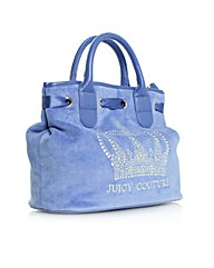 Juicy Crystal Crown Satchel Blue