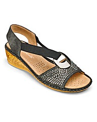 Cushion Walk Wedge Sandals E Fit