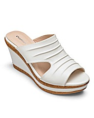 Cushion Walk Wedge Mule Sandals EEE Fit