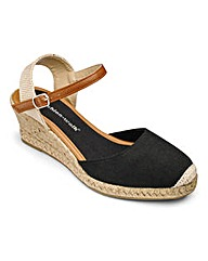 Cushion Walk Wedge Espadrilles E Fit
