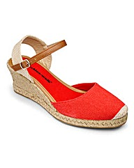 Cushion Walk Wedge Espadrilles EEE Fit