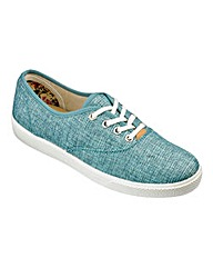Hotter Canvas Mabel Lace Up Shoes E Fit