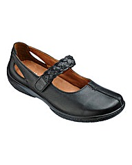 Hotter Quake Leather Bar Shoes E Fit