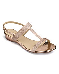 The Shoe Tailor Low Wedge Sandals E Fit