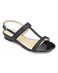 The Shoe Tailor Low Wedge Sandals EEE
