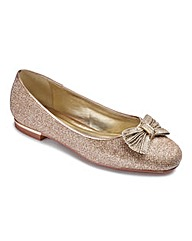The Shoe Tailor Bow Ballerinas E Fit