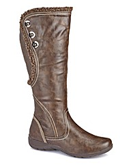 Cushion Walk Boots E Fit Curvy Calf