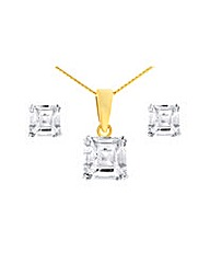 Gold Plated Cubic Zirconia Jewellery Set